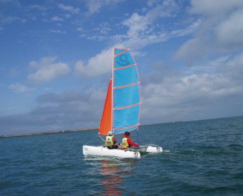 Catamaran KL école de voile de cherbourg
